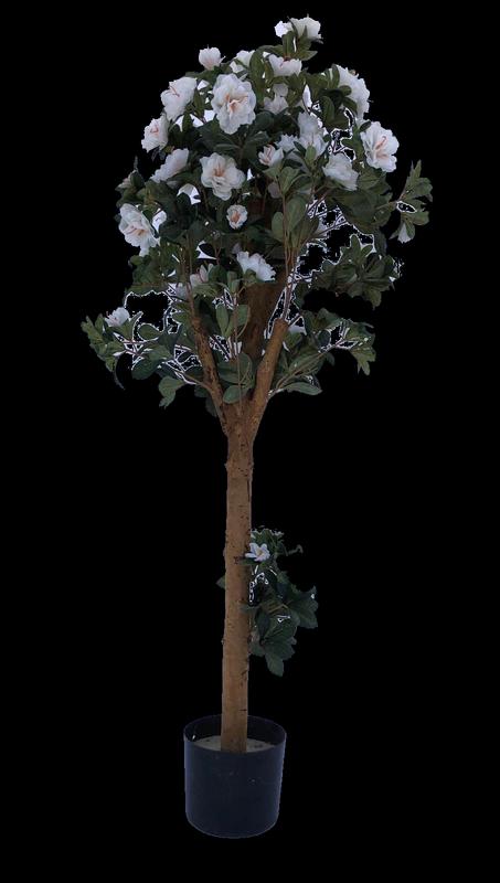 עץ פרחים מלאכותי לבן