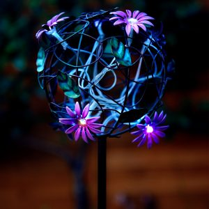 דוקרן גינה סולארי כדור פרחים גובה 84 ס