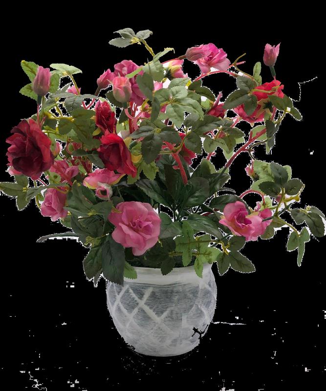 ורדים מלאכותי בכלי מעוצב 33 ס