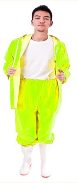 חליפת גשם צהוב זוהר