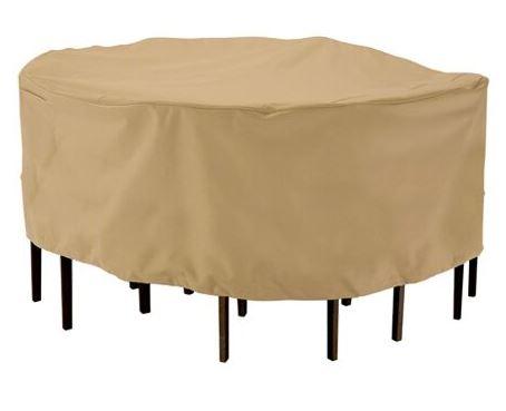 כיסוי לשולחן עם כיסאות