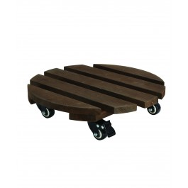 תחתית עץ טרולי לעציץ קוטר 30 ס