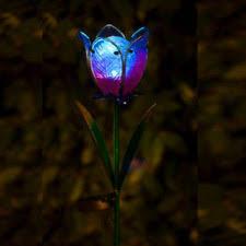 תאורה סולארית פרח גדול